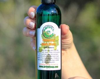 Patchouli Body Wash, 100% Natural, Body Wash, Handmade Soap, Natural Soap, Patchouli, Handcrafted, Soap, Natural