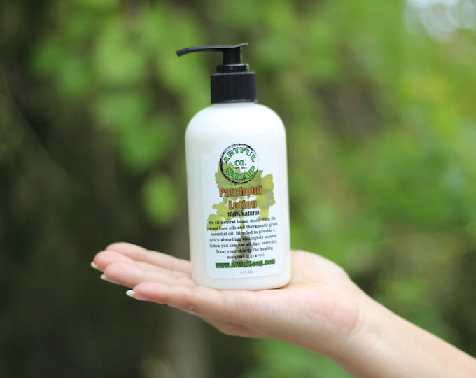 Patchouli Lotion, 100% Natural, Natural Lotion, Lotion, Patchouli, Moisturizing, Fast Absorbing, Moisturizer, Natural.