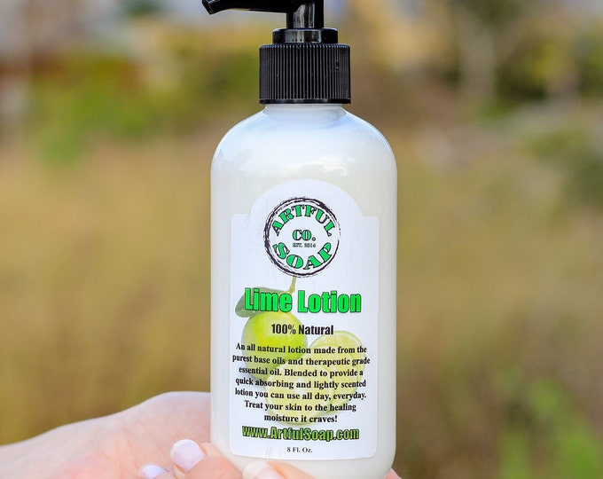 Lime Lotion, 100% Natural, Natural Lotion, Lotion, Lime, Moisturizing, Fast Absorbing, Moisturizer, Natural.