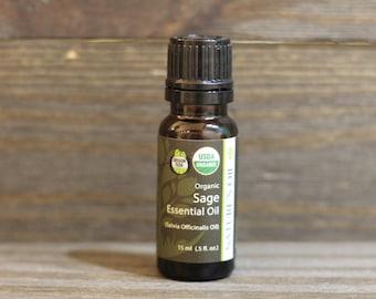 Sage Essential Oil.