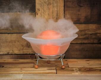 Diffuser Mist Lamp, Essential Oil Diffuser, Mist Lamp, Diffuser. White Glass or Blue Glass.
