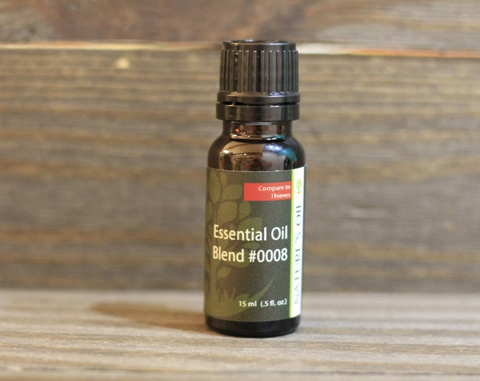 "Thieves* Essential Oil, Essential Oil Blend, ""Thieves"" is trademarked by Young Living. Blend #0008"