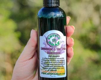 Lavender & Tea Tree Shampoo, Lavender and Tea Tree Oil Shampoo, 100% Natural, Lavender, Tea Tree, Handmade Soap, Natural Soap, Soap