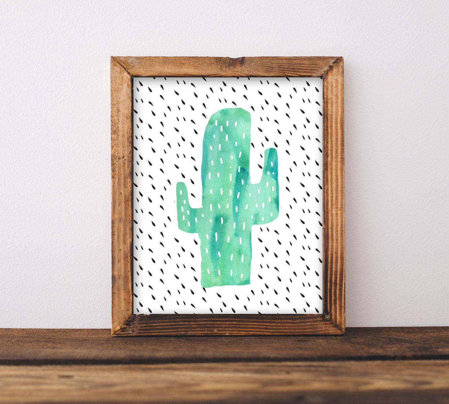 Cactus Wall Art Nursery Printable Gender Neutral ...