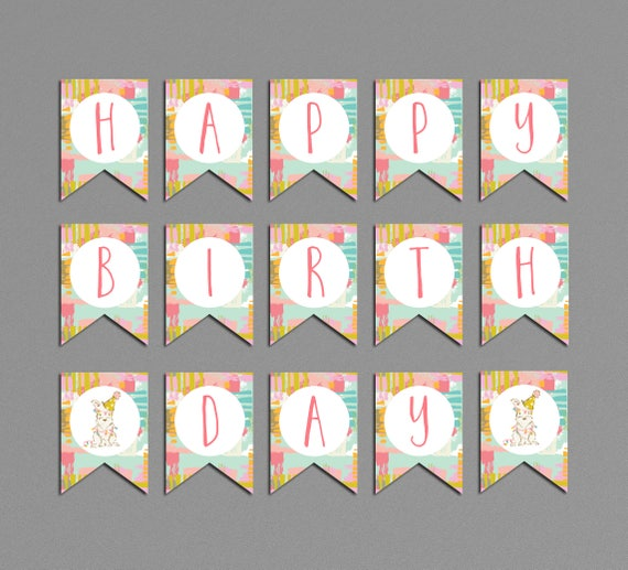 b111e94754 Dog Birthday Banner Printable Puppy Let's Paw-ty Party | Etsy