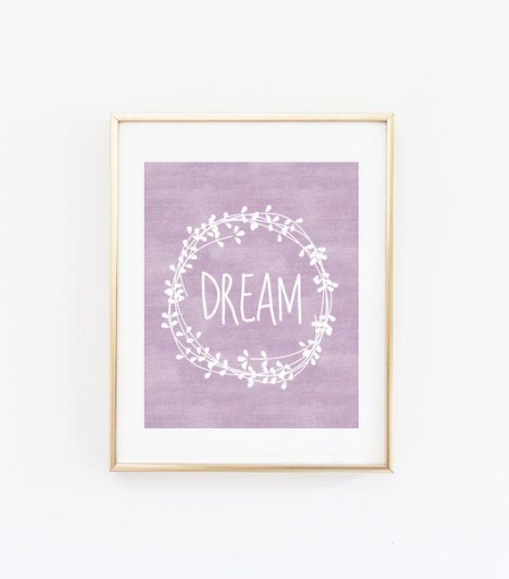 Dream Nursery Wall Art Inspirational Quote Printable Laurel Etsy