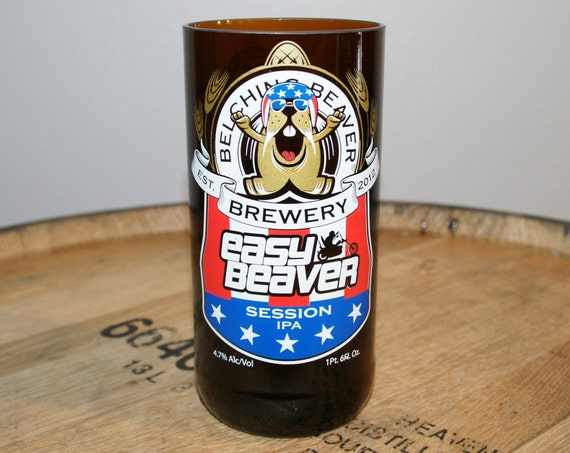 UPcycled Pint Glass - Belching Beaver - Easy Beaver Session IPA