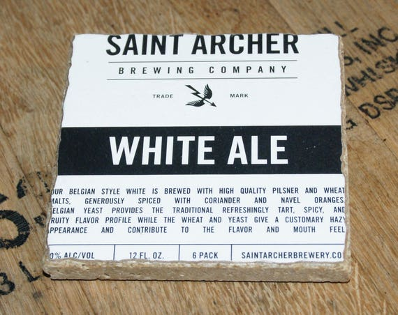 UPcycled Coaster - Saint Archer - White Ale