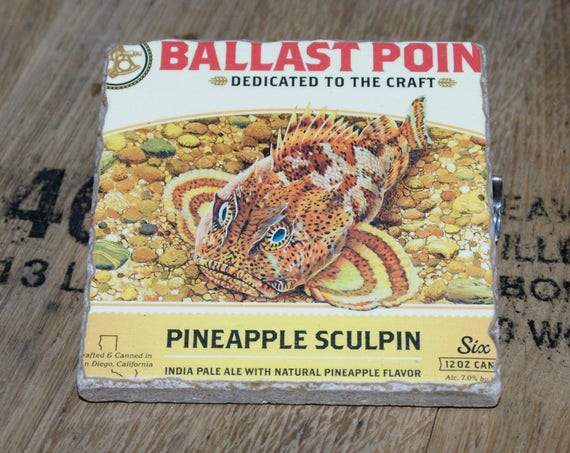 UPcycled Coaster - Ballast Point Brewing Co - Pineapple Sculpin IPA