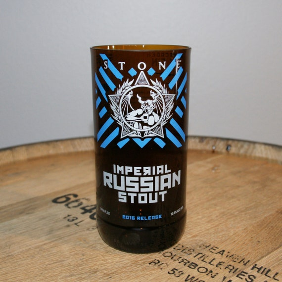 UPcycled Pint Glass - Stone Brewing Co - Imperial Russian Stout