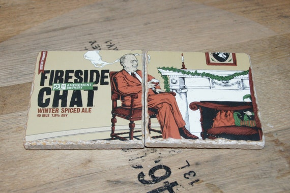 UPcycled Coaster (set of 2) - 21st Amendment - Fireside Chat