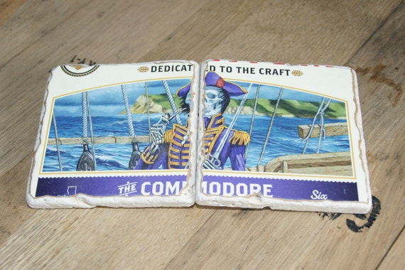 UPcycled Coaster (set of 2) - Ballast Point - The Commodore