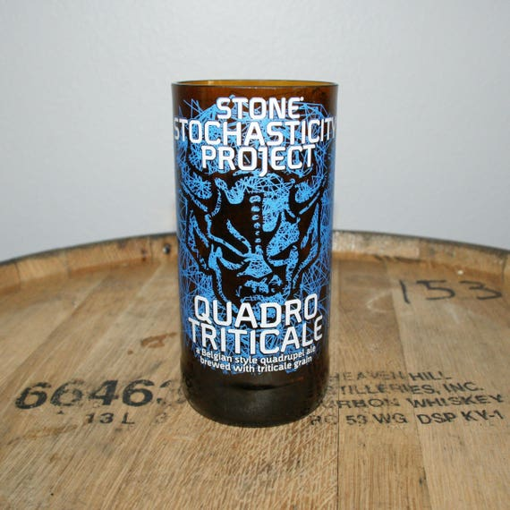 UPcycled Pint Glass - Stone Brewing Co - Stochasticity Quadro Triticale
