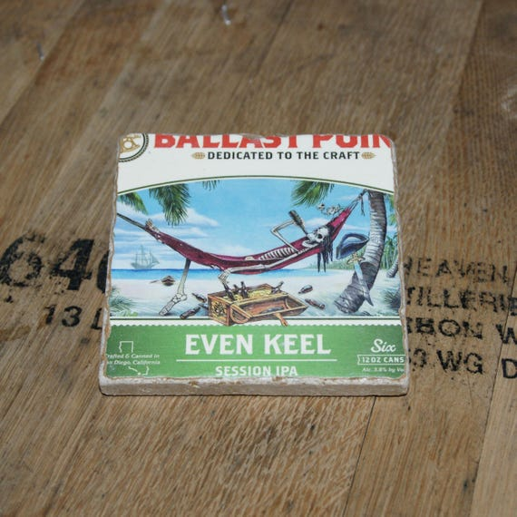 UPcycled Coaster - Ballast Point Brewing Co - Even Keel Session IPA
