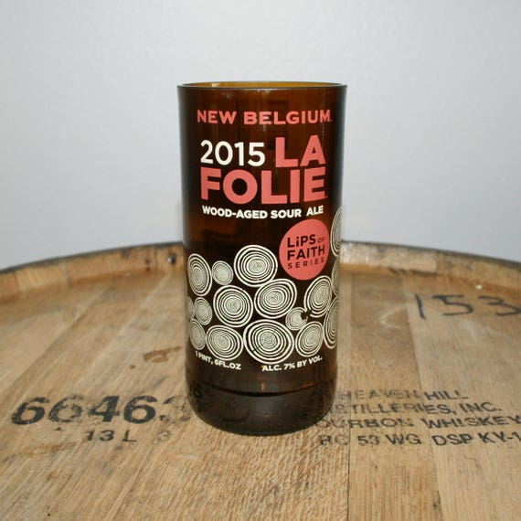 UPcycled Pint Glass - New Belgium - La Folie 2015
