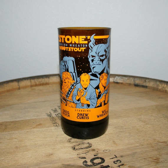 UPcycled Pint Glass - Stone Brewing Co - W00tstout (2016)