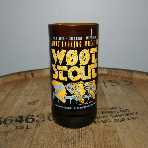 UPcycled Pint Glass - Stone Brewing Co. - w00tstout 5.0 (2017)