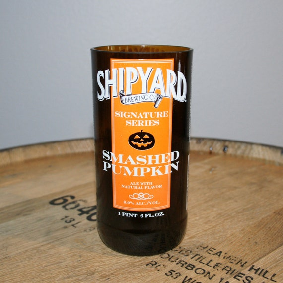 UPcycled Pint Glass - Shipyard Brewing Co. - Smashed Pumpkin