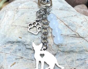 Planner Charm  Resin Ley Ring Mystical Cat Kitten Key Chain