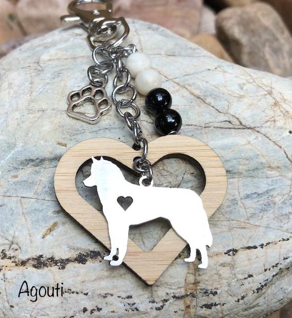 bag charm dog key chain basenji jewelry pet keepsake Basenji pet memorial keyhain pet loss key chain