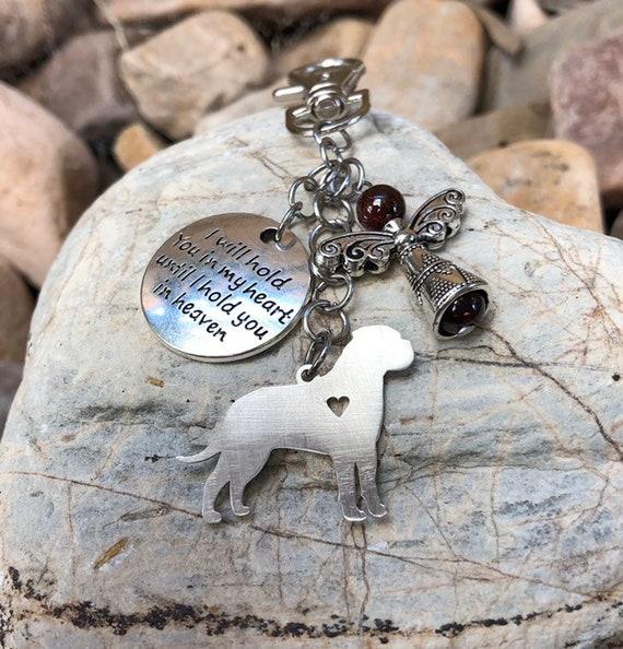 Bag charm Keepsake Memorial Dog Pet Name Keychain Loss Cat