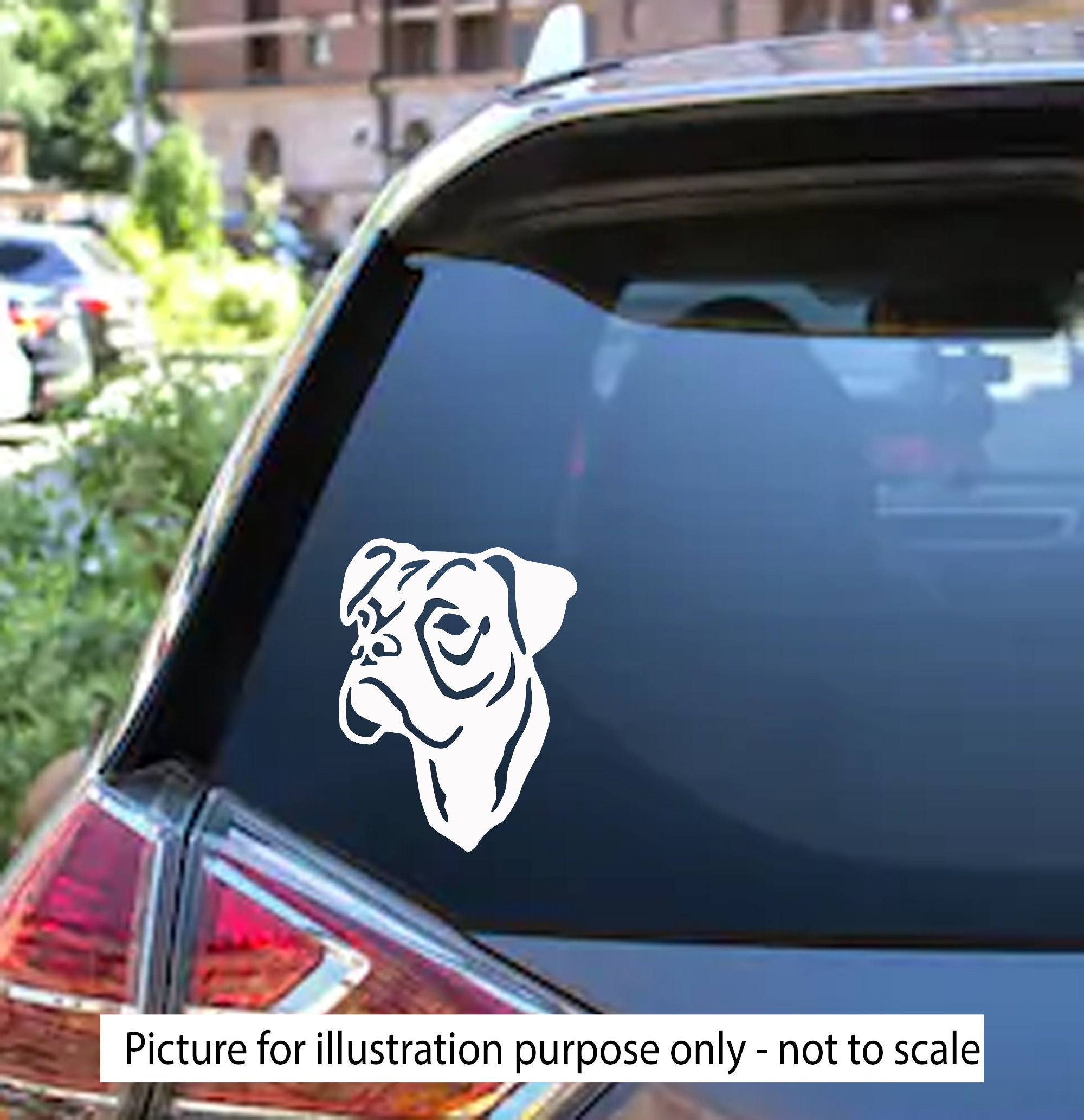 Boxer Decal Sticker Car Window