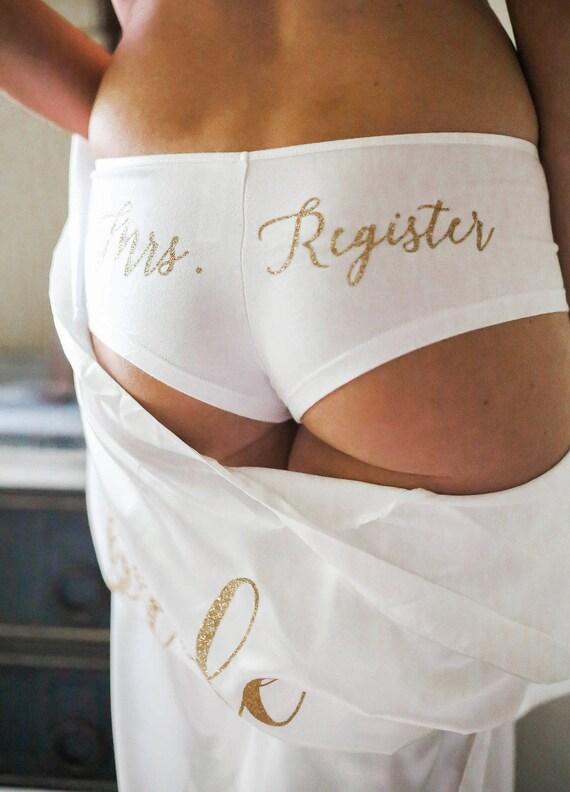 Bride Gift Lingerie Shower Underwear Bridal Etsy