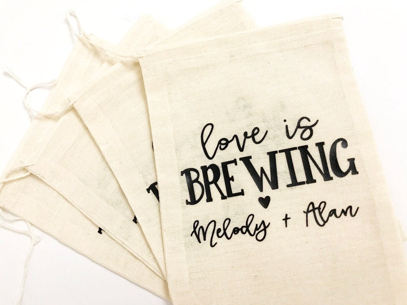 Coffee Bags Coffee Favors Personalized Wedding Favors Favor Bags love is brewing wedding favor bag,Coffee Wedding Favors Wedding Coffee