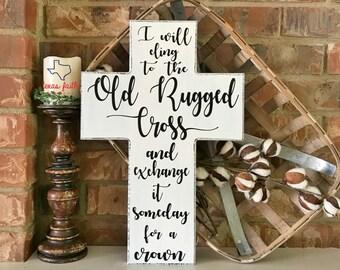 "The Old Rugged Cross 18"" Cross"