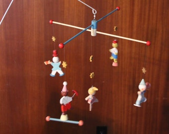 Vintage originals by IRMI baby circus mobile