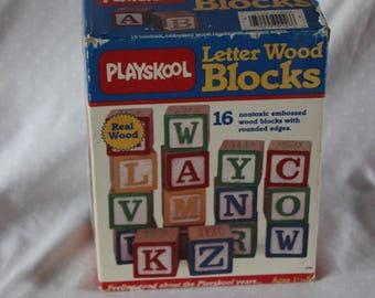 Playskool Letter Wood Blocks
