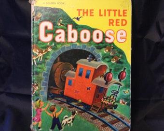 Vintage Oversize Golden Book of Little Red Caboose