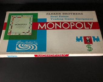 Vintage Monopoly Game, 1961, complete