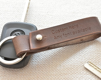 Leather keychain 8f86b2eeec
