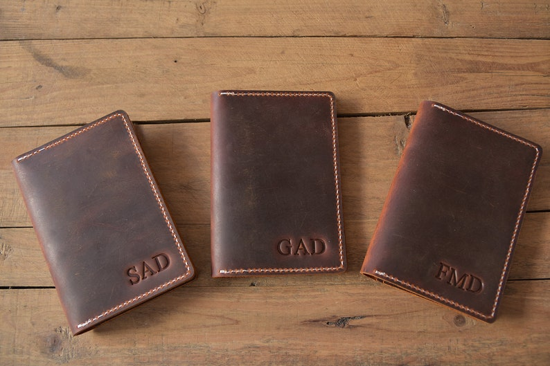 43efcab9a Leather passport holder personalized wallet wallets for men