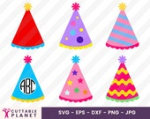 Birthday hats svg, dxf, eps, png, jpg, birthday hats clip art