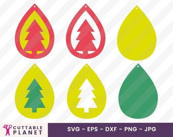Tree Earrings Svg Etsy