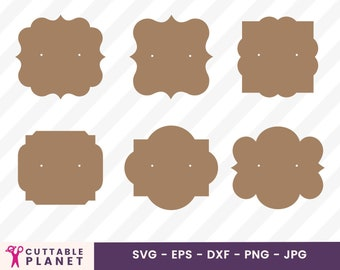 Earring Cards Svg Etsy
