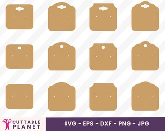 Earring display card svg, dxf, eps, png, jpg, instant download