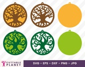 Three of life earring template svg, dxf, eps, png, three of life pendant