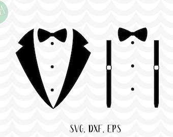Tuxedo svg, dxf, eps, suspenders svg, dxf, eps, wedding svg, bow tie svg, t-shirt design, married svg, wedding svg
