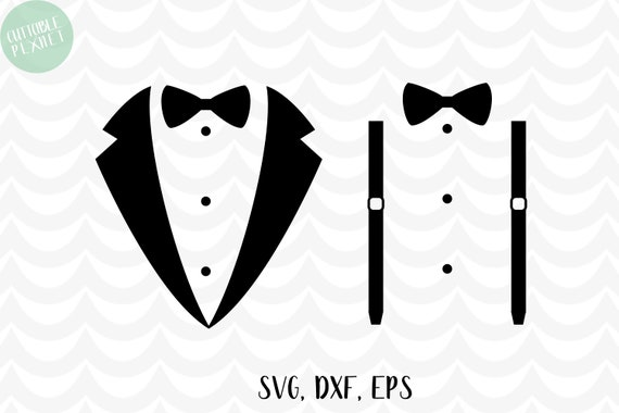 Tuxedo Svg Dxf Eps Suspenders Svg Dxf Eps Wedding Svg Etsy