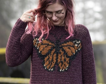 4edd689cae8b2b The Monarch Sweater Crochet Pattern