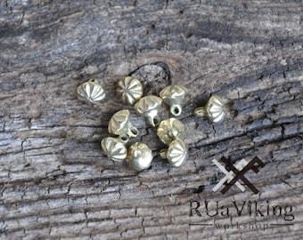 10 Medieval bronze buttons- set of 10 - 8 mm diameter