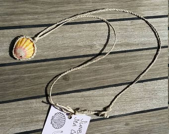 Hemp wrapped sunrise shell