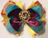 The Book of Life Inspired Hair Bow burgundy