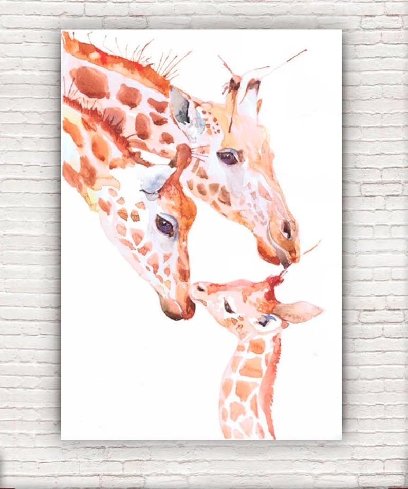 19fb49cca83 Giraffe art print, animal art painting, watercolor, nursery, african  animals art print, animal art for kids, giraffe drawing, funny giraffe