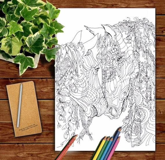 Digital stamp Coloring Pages Printable Adult Coloring book   Etsy