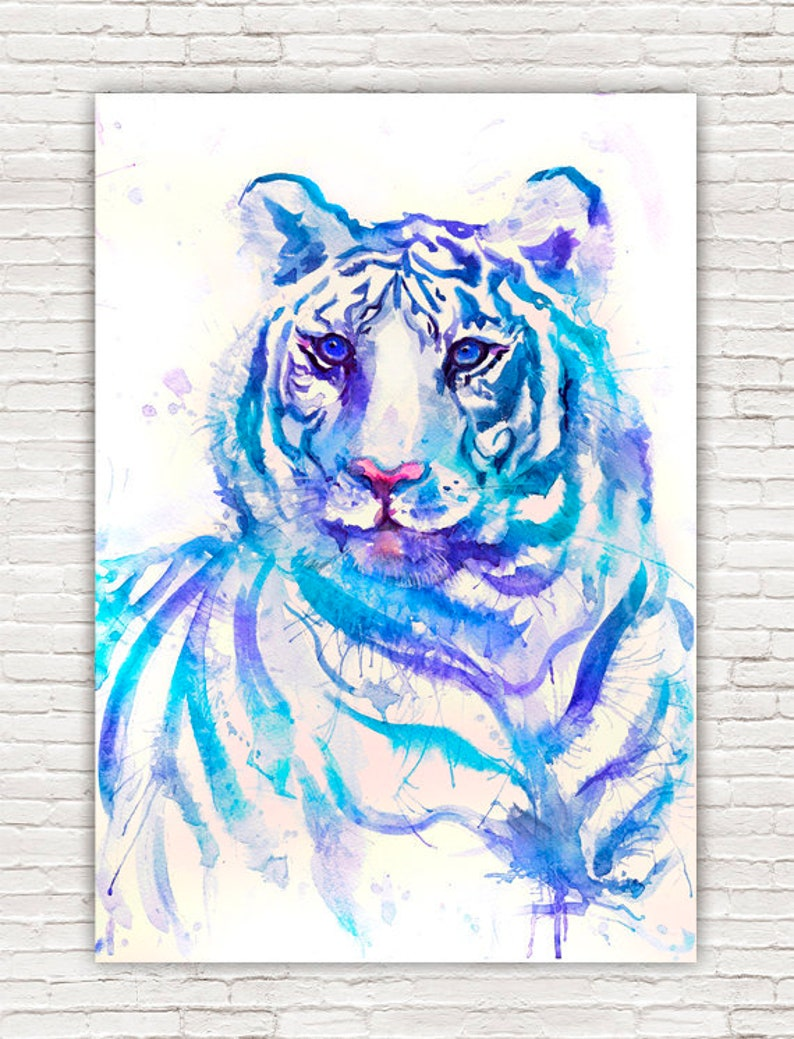 A4 White Tiger *DISCOUNTED OFFERS*  A3 Stunning Wildlife Poster Print