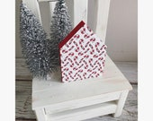 Wooden Mini Candy Cane House